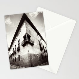 The oblique building Stationery Cards
