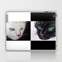 Black and White Cat Laptop & iPad Skin
