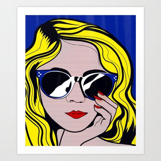 Pop Art Glamour Girl Art Print