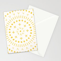 Radial - in Gold Stationery Cards