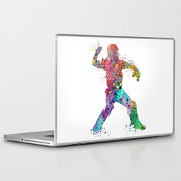 Baseball Softball Catcher 3 Art Sports Poster Laptop & iPad Skin