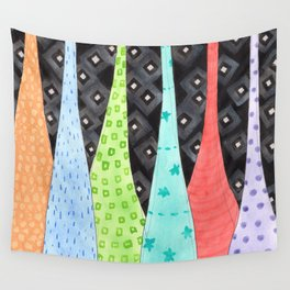 Six Hanging patterned sculptures Wall Tapestry