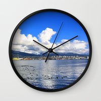 vancouver Wall Clocks featuring North Vancouver by Chris Root