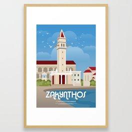 Zakynthos, The bell tower of St. Dionysios (GR) Framed Art Print