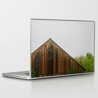 cabin Laptop & iPad Skins featuring Cabin Season by Tina Crespo
