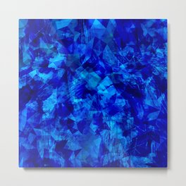 Cobalt Facets Metal Print