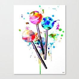 Lollipops Canvas Print