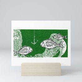 Tangaroa & the Snapper Mini Art Print