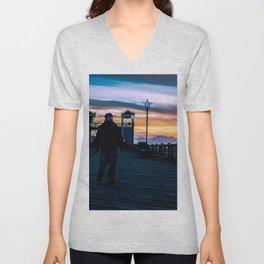 Sunset Into Heaven Unisex V-Neck