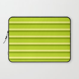 Lime Green Stripes Laptop Sleeve