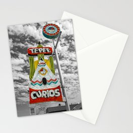 Tepee Curios Tourist Trap Tucumcari New Mexico Route 66 Vintage Neon Stationery Cards