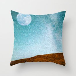 Pastoral Moonrise Throw Pillow
