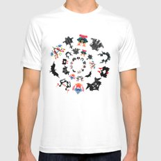 Rorschach test subjects' perceptions of inkblots psychology   thinking Exner score Mens Fitted Tee MEDIUM White