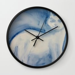 The Fog Comes In On Little Cat Feet Wall Clock