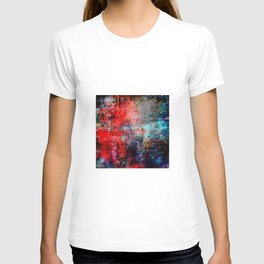 Modern Contemporary Red Abstract IntoDarkness Design T-shirt