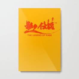 The Legend of Kage Metal Print