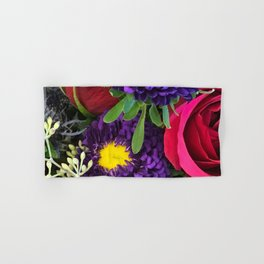 A Happy Bunch Of Colorful Flowers Hand & Bath Towel