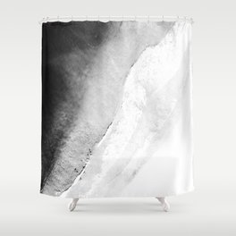 Waves in beach Shower Curtain