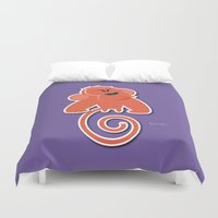 quibe Duvet Covers featuring Angry moonkey  by quibe