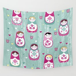 Matryoshka Dolls Wall Tapestry