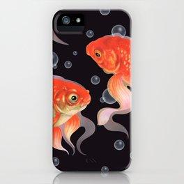 Goldfish Dabi deep water iPhone Case