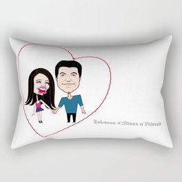 Rebecca Black and Simon Cowell are Friends Rectangular Pillow