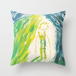 Kundalini Awakening Throw Pillow