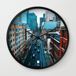The City (Color) Wall Clock