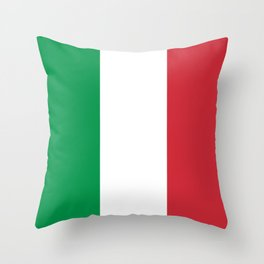 National Flag of Italy, High Quality Image Throw Pillow