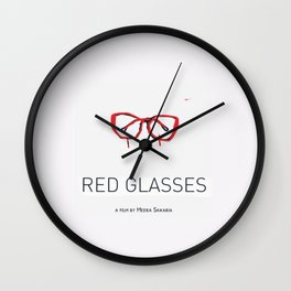 RED GLASSES  Wall Clock