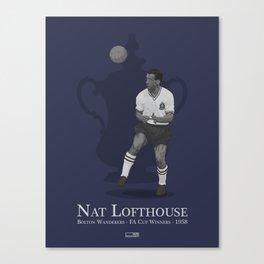 Nat Lofthouse - Bolton Wanderers - 1958 FA Cup Winner Canvas Print