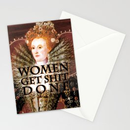 Women get shit done Stationery Cards