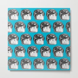 Minifigure Pattern – Blue Metal Print