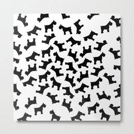 Schnauzer - Simple Dog Silhouette Metal Print