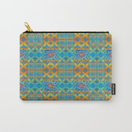 Glowing African Inspired Geometric Print Carry-All Pouch