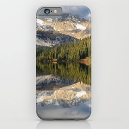 Photo USA Long Lake, Colorado, Indian Peaks Wilderness, Navajo Peak, Apache Peak Nature mountain Lake Forests Trees Mountains forest iPhone Case