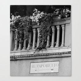 Venetian balcony Canvas Print