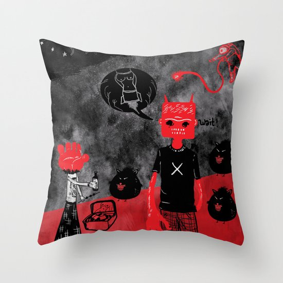 Day Off Throw Pillow