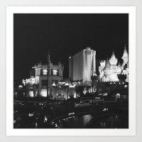 Vegas at Night Art Print