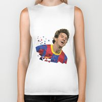 messi Biker Tanks featuring Messi  by Abhikreationz