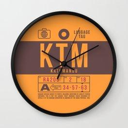 Luggage Tag B - KTM Kathmandu Nepal Wall Clock