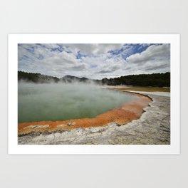 Thermal Pool Art Print
