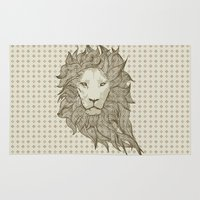 lion Area & Throw Rugs featuring Lion by Vickn
