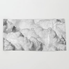 White Clouds Beach Towel