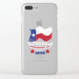 Texas Independence Day  Clear iPhone Case