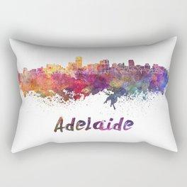 Adelaide skyline in watercolor Rectangular Pillow