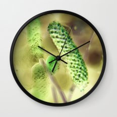 Lost in Green Wall Clock