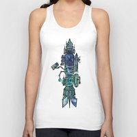 spaceship Tank Tops featuring Spaceship  by Joseph Kennelty