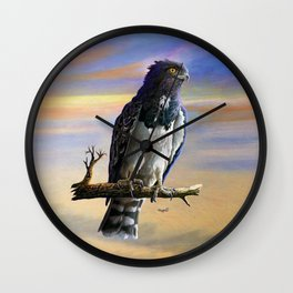 Black Chested Snake Eagle Wall Clock