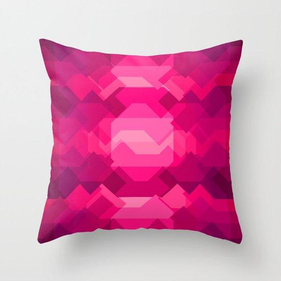 Gemstone - Ruby Throw Pillow